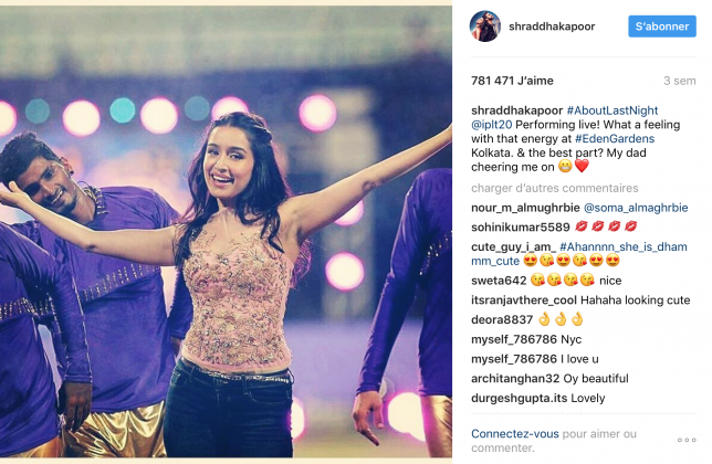 Shraddha Kapoor Grabs the Top Place on Instagram Leader Board